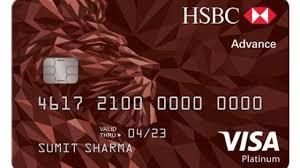 hsbc bank advance visa platinum credit