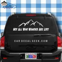 Inspirational Motivational Car Window Decals Stickers