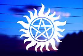 Supernatural Anti Possession Symbol Vinyl Car Decal Sticker