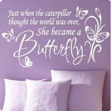 Large White Butterfly Caterpillar Wall Decal Little Girls Room Nursery Decal Quote Vinyl Love Large Vinyl Wall Quotes Wall Quotes Decals Vinyl Wall Lettering