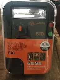 Brand New Gallagher S10 Solar Electric Fence Charger G341404 Ebay