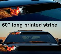 Buy 60 Bruce Wayne Dark Knight Flame Gotham Sun Strip Printed Windshield Car Vinyl Sticker Decal