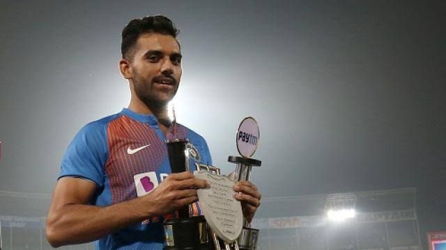 Image result for rohit sharma deepak chahar""