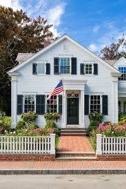 Patrick Ahern Architect White Classic American Home Picket Fence Flag Fourth Of July The Glam Pad