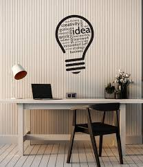 Vinyl Wall Decal Creativity Idea Lightbulb Teamwork Office Room Sticke Wallstickers4you