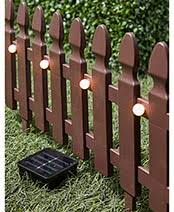6 Ft Solar Border Picket Fence Panels The Lakeside Collection