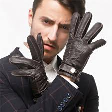 mens leather gloves fashion autumn men