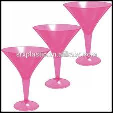 hot pink 8oz plastic martini cocktail