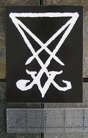 Amazon Com 5 X 4 Inch Sigil Of Lucifer Sticker Demonic Leviathan Cross Pentagram Devil Demon Dragon Evil Goat Skull Goat S Head Gothic Metal Occult Punk Satan Satanic Skeleton Voodoo Baphomet Inverted Demon