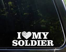 Amazon Com Sweet Tea Decals I Love My Soldier 8 3 4 X 3 Vinyl Die Cut Decal Bumper Sticker For Windows Trucks Cars Laptops Macbooks Etc Automotive