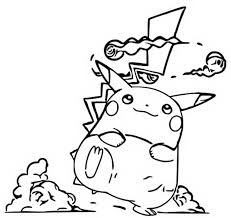 Kleurplaat Gigantamax Pokemon Gigantamax Pikachu 3
