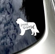 Saint Bernard Car Decal Saint Bernard Car Sticker Car Accessory Saint Bernard Mom Saint Bernard Car Decals Car Accessories Dog Decals
