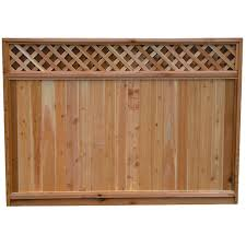 Fence With Solid Lattice Top 17000352 Rona