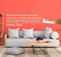Henry Ford Airplane Wall Quote Sticker Tenstickers