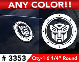 Transformers Autobot Gas Cap Decal Sticker 6 1 4 Round Any Color Ebay