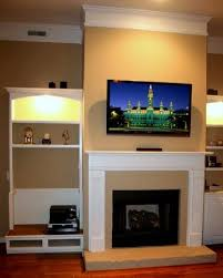 fireplace stone or brick tv wall mount