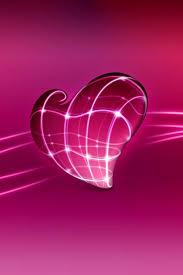 3d love heart mobile wallpaper