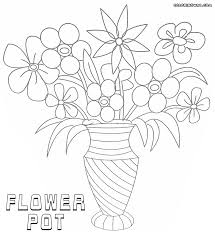 flower pot coloring pages coloring