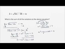 radical and rational equations