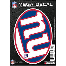 New York Giants Car Decals Decal Sets Giants Car Decal Lids Com