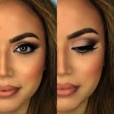 makeup natural look brown eyes cat