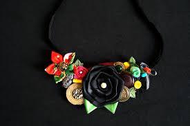 wallpaper flores necklace handmade