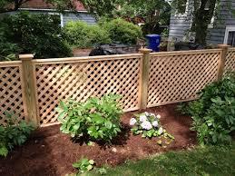 Lattice On Fensu Backyard Fences Fence Design Fence Landscaping