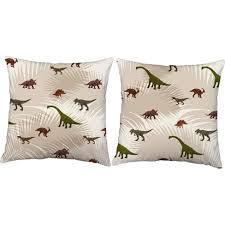 Set Of 2 Roomcraft Dinosaurs Decorative Kids Room Throw Pillows Target