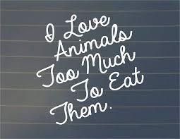 Amazon Com Susie85electra I Love Animals Too Much To Eat Them Car Decal Vegan Decal Car Sticker Laptop Decal Laptop Sticker Vegan Sticker Vegan Gift Home Kitchen