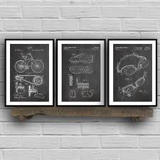 ᑎ Triathlon Art Patent Group Posters And Prints Triathlon Cycling Gifts Drawing Canvas Painting Pictures For Home Wall Art Decor A481