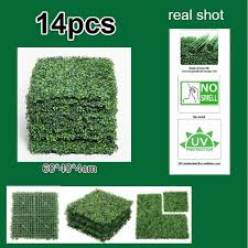 2020 Artificial Boxwood Panels Outdoor Artificial Hedge Privacy Fence Grass Mat Vertical Garden Plants Balcony Decoration From Williem 157 43 Dhgate Com