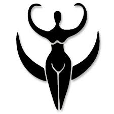 Vs007 Pagan Moon Goddess Small Vinyl Cutout Window Sticker