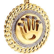 medallion pendant 10k yellow gold