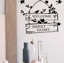 Traditional Peace Welcome Home Black Wall Decal Wall Sticker Removable 8253 Wall Stickers Living Room Kids Room Wall Decals Sticker Wall Art