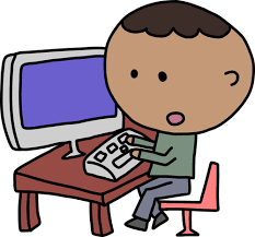 African man and computer | Public domain vectors