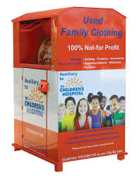 clothing donation bin program