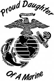 Proud Daughter Of A Marine W Logo Car Or Truck Window Decal Sticker Rad Dezigns