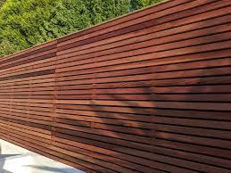 Oiled Cedar Fence Panels In 2020 Cedar Fence Wood Fence Design Modern Wood Fence