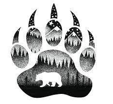 Bear Paw Sticker Sticker Art