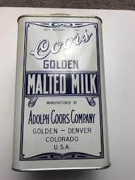 Adolph Coors 1930s Golden Malted Milk Can 5 Lb Metal W/ Lid Prohibition  Denver | #1867014556