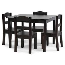 Humble Crew Espresso Collection 5 Piece Espresso Table And Chair Set Tc824 The Home Depot