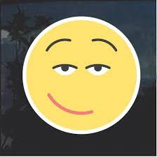 Emoji Sexy Smile Decal Sticker Custom Sticker Shop