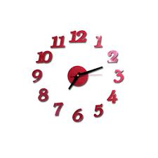 Tangon 3d Diy Roman Numbers Acrylic Mirror Wall Sticker Clock Home Decor Mural Decals Red Walmart Com Walmart Com