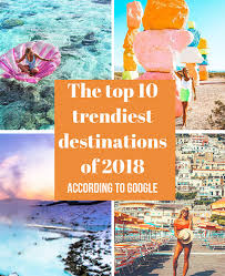 the top 10 trenst destinations of