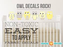 Owl Fabric Wall Decals Set Of 6 Four Color Options Four Size Options Fabric Wall Decals Owl Fabric Owl Wall Decals