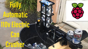 a fully automatic electric can crusher