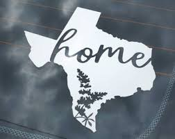 Texas Car Decal Etsy