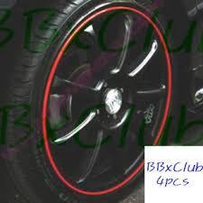 Japan Red Rim Stripe 16 Wheel Car Motor Decal Sticker 13 99 Okxclub Cart