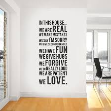 Quotes About Art And Creativity Funny And Creative Quotes Decals For Every Room Decoholic Interior Wall Sticker In This House We Vinyl Wall Stickers