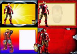 Iron Man En Rojo Y Dorado Invitaciones Para Imprimir Gratis Oh
